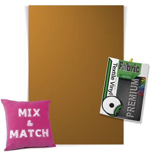 Antique Gold Pick & Mix Premium Coloured HTV Textile Sheets From GM Crafts