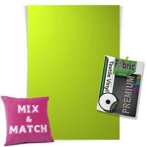 Apple Green Pick & Mix Premium Coloured HTV Textile Sheets From GM Crafts