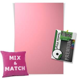 Baby Pink Pick & Mix Premium Coloured HTV Textile Sheets From GM Crafts