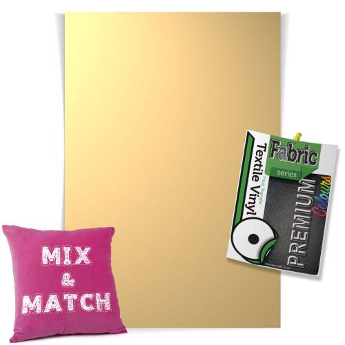 Beige Pick & Mix Premium Coloured HTV Textile Sheets From GM Crafts