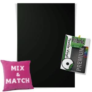 Black Pick & Mix Premium Coloured HTV Textile Sheets From GM Crafts
