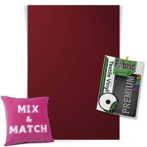 Bordeaux Pick & Mix Premium Coloured HTV Textile Sheets From GM Crafts