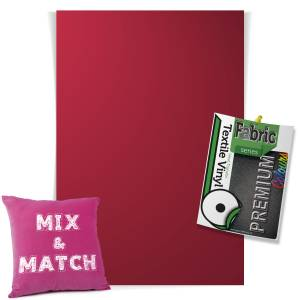 Cardinal Red Pick & Mix Premium Coloured HTV Textile Sheets From GM Crafts