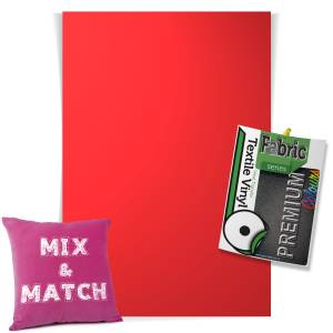 Flame Red Pick & Mix Premium Coloured HTV Textile Sheets From GM Crafts