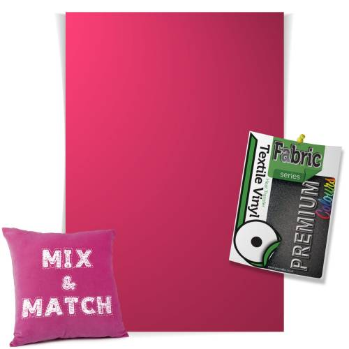 Fuchsia Pick & Mix Premium Coloured HTV Textile Sheets From GM Crafts