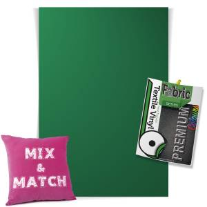 Green Pick & Mix Premium Coloured HTV Textile Sheets From GM Crafts