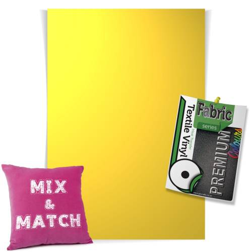Lemon Yellow Pick & Mix Premium Coloured HTV Textile Sheets From GM Crafts