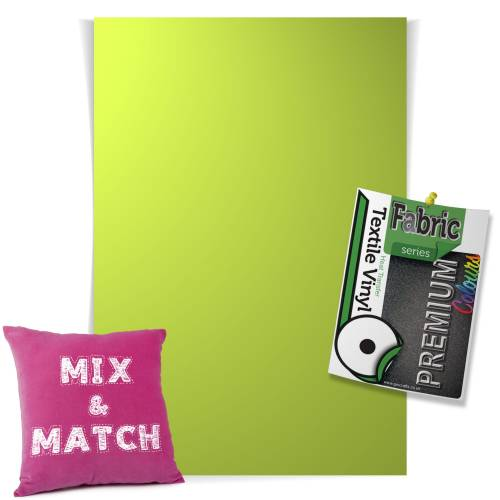 Light Green Pick & Mix Premium Coloured HTV Textile Sheets From GM Crafts