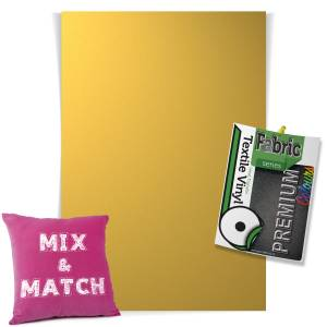 Metallic Gold Pick & Mix Premium Coloured HTV Textile Sheets From GM Crafts