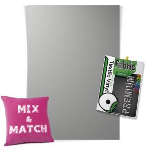 Metallic Silver Pick & Mix Premium Coloured HTV Textile Sheets From GM Crafts