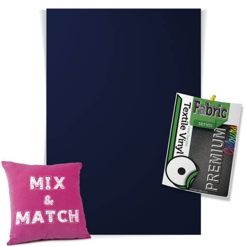 Navy Blue Pick & Mix Premium Coloured HTV Textile Sheets From GM Crafts