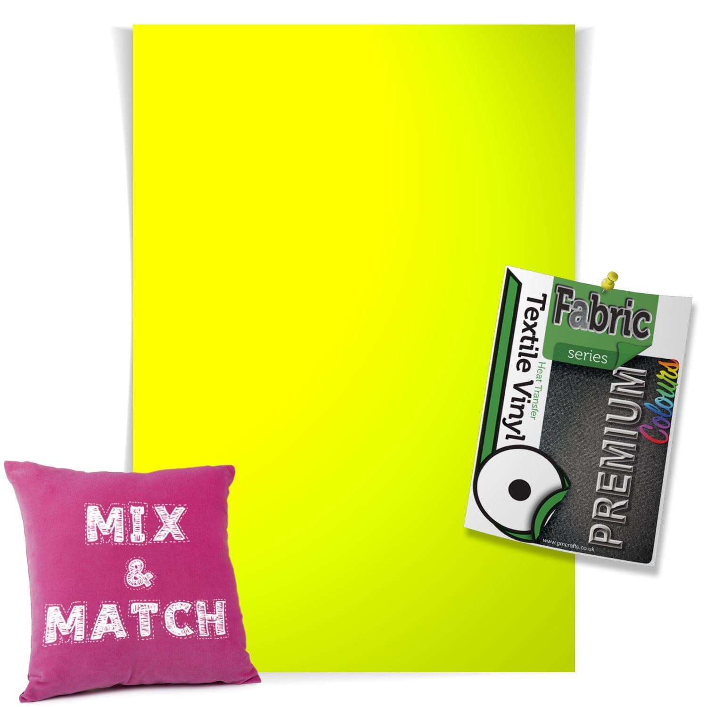 Htv Neon Yellow Single Sheet Gm Crafts
