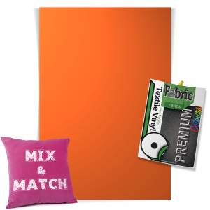 Orange Pick & Mix Premium Coloured HTV Textile Sheets From GM Crafts