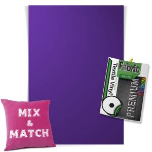 Purple Pick & Mix Premium Coloured HTV Textile Sheets From GM Crafts