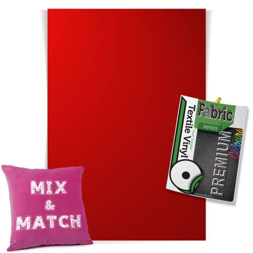 Red Pick & Mix Premium Coloured HTV Textile Sheets From GM Crafts