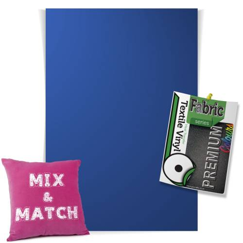 Royal Blue Pick & Mix Premium Coloured HTV Textile Sheets From GM Crafts
