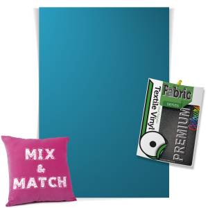 Sapphire Pick & Mix Premium Coloured HTV Textile Sheets From GM Crafts