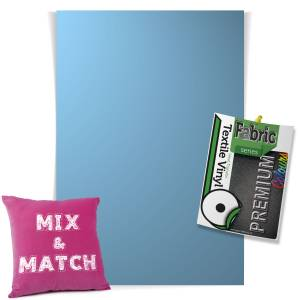 Sky Blue Pick & Mix Premium Coloured HTV Textile Sheets From GM Crafts