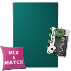 Turquoise Pick & Mix Premium Coloured HTV Textile Sheets From GM Crafts
