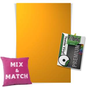 Yellow Mix & Match Premium Coloured HTV Textile Sheets From GM Crafts