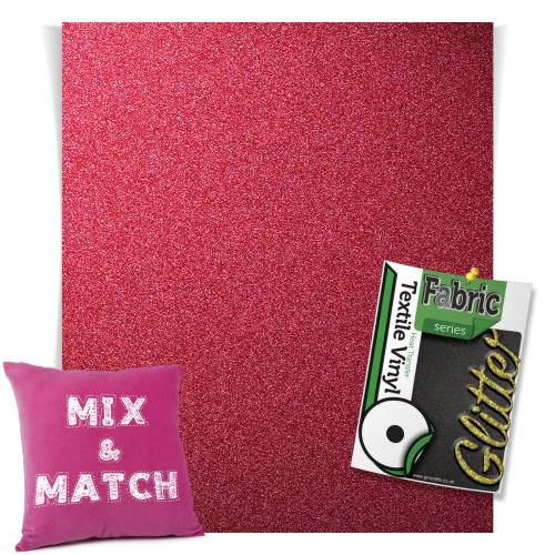 Pink HTV Glitter Sheets From GM Crafts