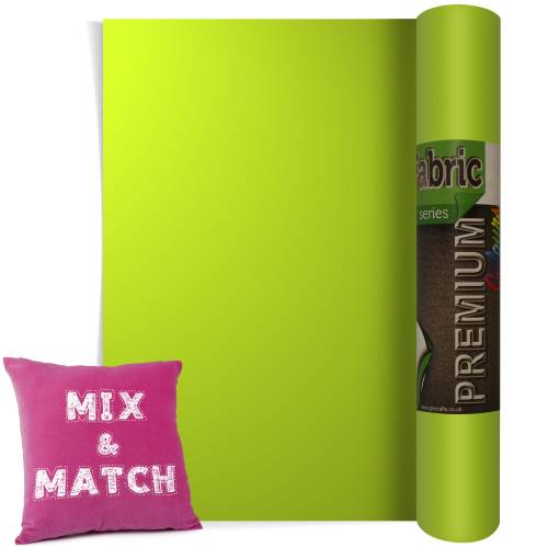 Apple Green Premium Coloured HTV Textile Film From GM Crafts