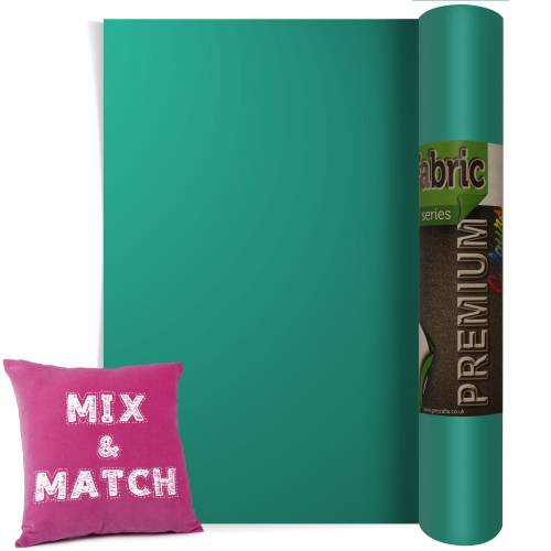 Aqua Green Premium Coloured HTV Textile Film From GM Crafts