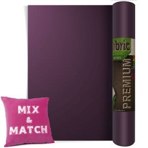 Aubergine Premium Coloured HTV Textile Film From GM Crafts