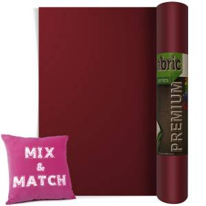 Bordeaux Premium Coloured HTV Textile Film From GM Crafts