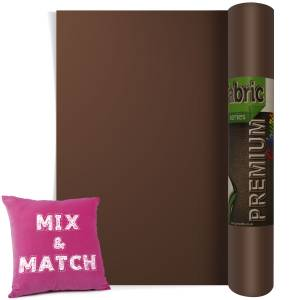 Brown Premium Coloured HTV Textile Film From GM Crafts