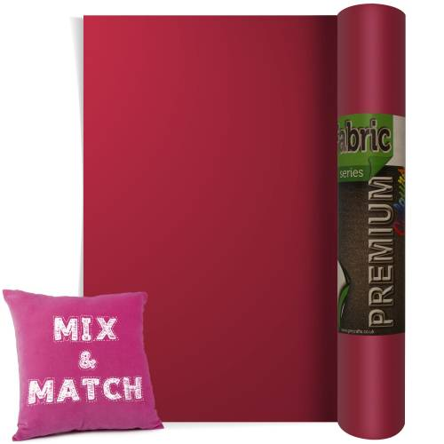 Cardinal Red Premium Coloured HTV Textile Film From GM Crafts