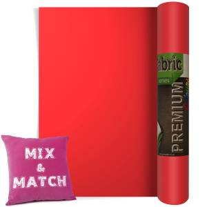 Flame Red Premium Coloured HTV Textile Film From GM Crafts