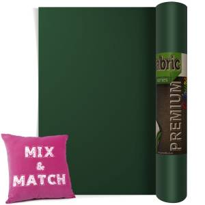 Forest Green Premium Coloured HTV Textile Film From GM Crafts
