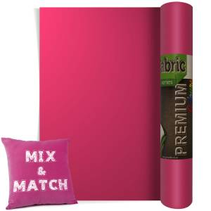 Fuchsia Premium Coloured HTV Textile Film From GM Crafts