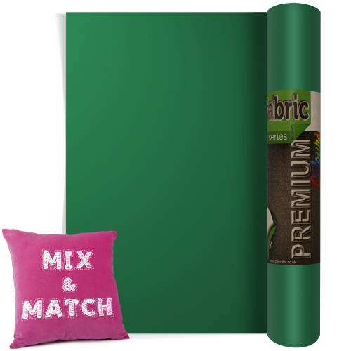 Green Premium Coloured HTV Textile Film From GM Crafts