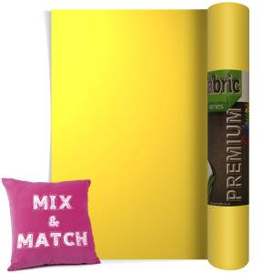 Lemon Yellow Premium Coloured HTV Textile Film From GM Crafts