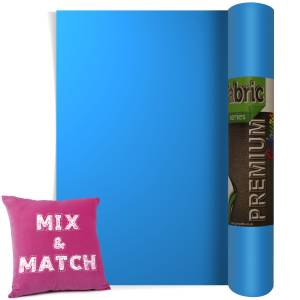 Light Blue Premium Coloured HTV Textile Film From GM Crafts