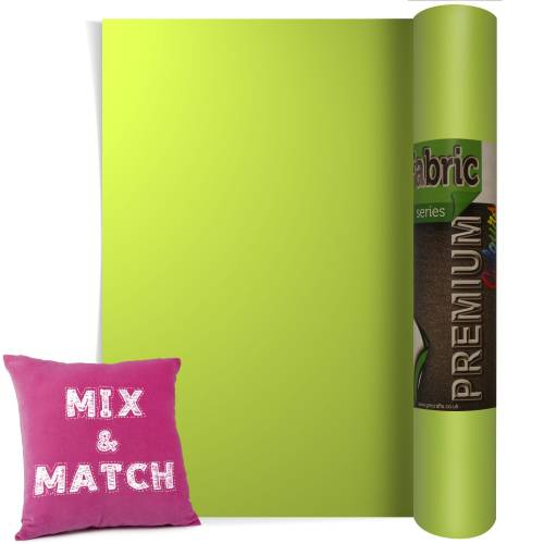 Light Green Premium Coloured HTV Textile Film From GM Crafts