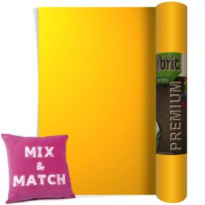 Medium Yellow Premium Coloured HTV Textile Film From GM Crafts