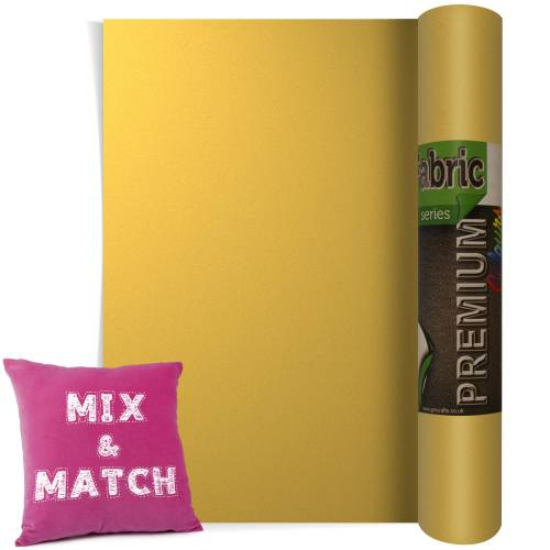 Metallic Gold Premium Coloured HTV Textile Film From GM Crafts
