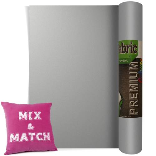 Metallic Silver Premium Coloured HTV Textile Film From GM Crafts