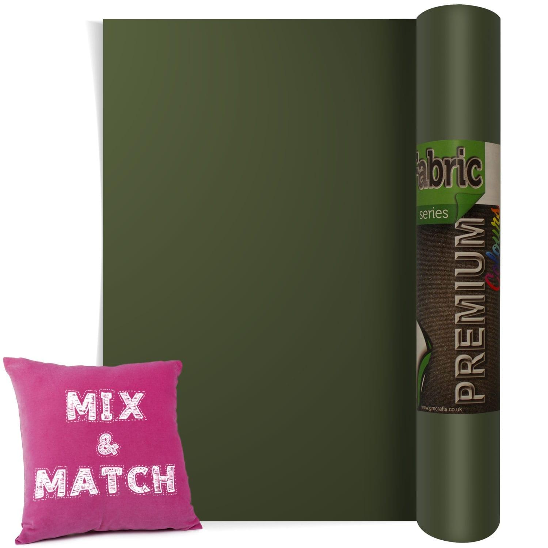 Htv Military Green Heat Transfer Fabric Vinyl 500 Mm X 1