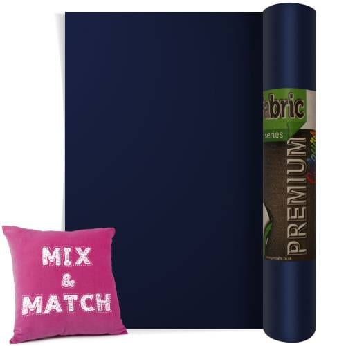 Navy Blue Premium Coloured HTV Textile Film From GM Crafts