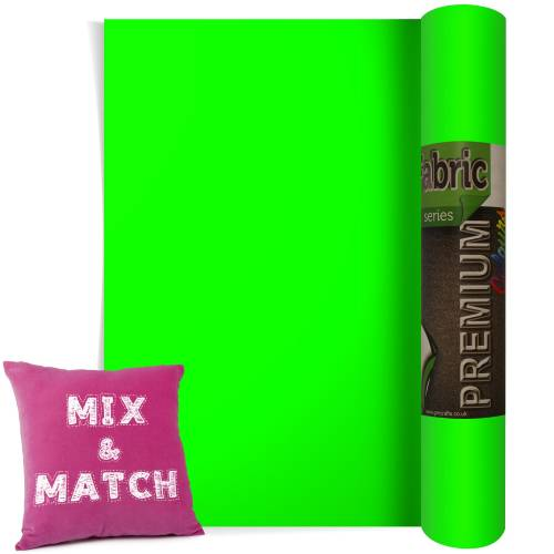 Neon Green Premium Coloured HTV Textile Film From GM Crafts