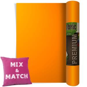 Neon Orange Premium Coloured HTV Textile Film From GM Crafts