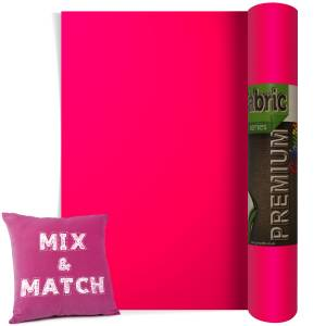 Neon Pink Premium Coloured HTV Textile Film From GM Crafts
