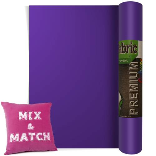 Purple Premium Coloured HTV Textile Film From GM Crafts