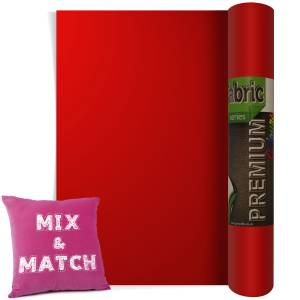 Red Premium Coloured HTV Textile Film From GM Crafts
