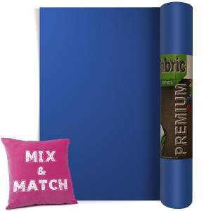 Royal Blue Premium Coloured HTV Textile Film From GM Crafts