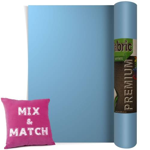 Sky Blue Premium Coloured HTV Textile Film From GM Crafts